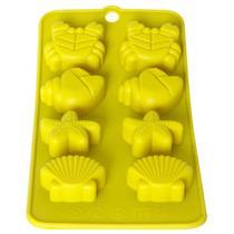 Forma para Gelo Fundo do Mar Mimo 3617 Silicone Amarelo
