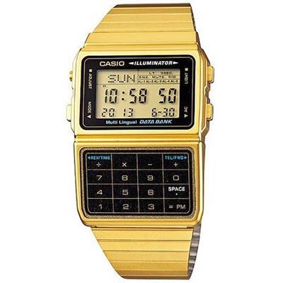 dbae8ad5cf6 Relógio Feminino Casio DBC611G1DF Digital com Calculadora Pulseira de Aço  Dourado