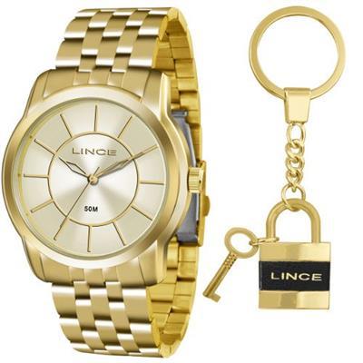 Relógio Feminino LinceLRG4510L KU54C1KX Analógico Pulseira de Aço Dourado e2a4990058