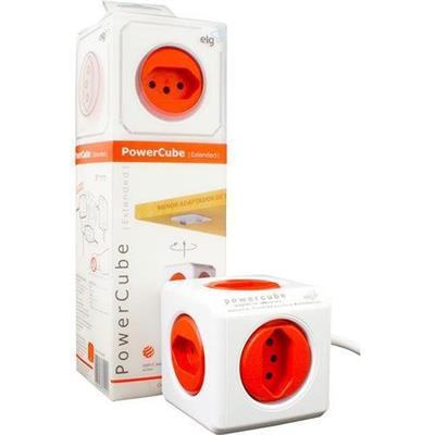 Filtro de Linha ELG Power Cube PWCX5 com 5 Tomadas Branco e Vermelho