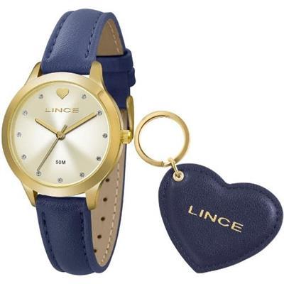 1a661abc773 Relógio Feminino Lince LRC4508L KU57C1DX Analógico Pulseira de Couro Azul