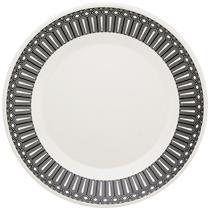 Jogo de Jantar 20 Peças Oxford Nativa N6131877 Porcelana Branco e Preto
