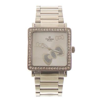 Relógio Feminino Champion CH24366D Analógico Pulseira de Aço Prata com Kit
