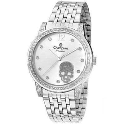 81bd336a045 Relógio Feminino Champion CN29212D Analógico Pulseira de Aço Prata com Kit