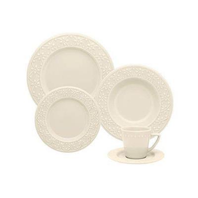 Conjunto para Jantar 20 Peças Oxford Marfim NK20-7301 Porcelana Bege