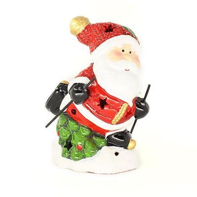 Adorno Natalino Papai Noel na Neve com Luz LED Santini 067-230195