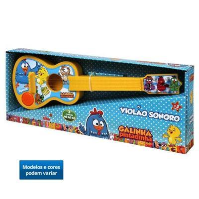 Brinquedo Galinha Pintadinha Violão Sonoro Elka 877