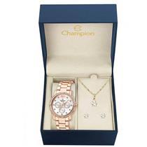 Relógio Feminino Champion CH38397D Analógico Pulseira de Aço com Kit