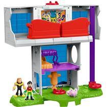 Conjunto Teen Titans Torre dos Jovens Titans Mattel Imaginext DTM81 Plástico 39cm