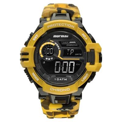 542bb890e5d Relógio Masculino Mormaii MO1134 8L Digital Pulseira de Silicone Preto e  Amarelo