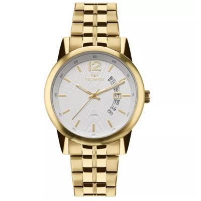 Relógio Masculino Technos 2315KZL/4B Analógico Pulseira de Aço Dourado