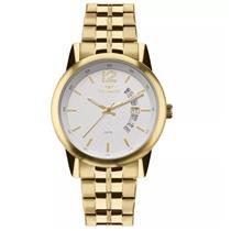 015ec61bc73 Relógio Masculino Technos 2315KZL 4B Analógico Pulseira de Aço Dourado