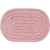 Tapete para Banheiro Allegro Oval Kapazi 28ALLE05 40X60cm Rosa Claro