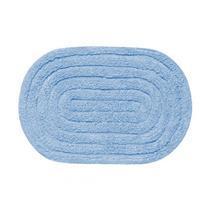 Tapete para Banheiro Allegro Oval Kapazi 28ALLE04 40X60cm Azul Claro