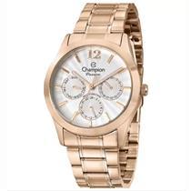 Relógio Feminino Champion CH38235Z Analógico Pulseira de Aço Rosé