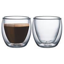 Conjunto de Copos para Café 2 Pécas Mimo 6138 Vidro Transparente