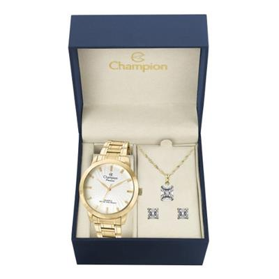Relógio Feminino Champion com Kit CN29276B