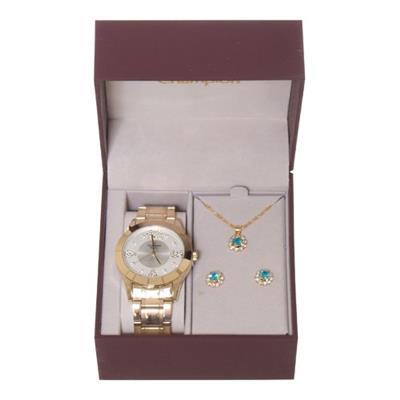 Relógio Feminino Champion com Kit CN29178B