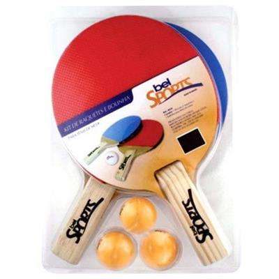 Conjunto de Raquetes para Tênis de Mesa Belfix 485000 Madeira e Borracha