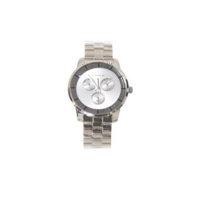ab1efc4505ba1c Relógio Feminino Lince LMM4478L S1SX Analógico Pulseira de Aço Prata ...