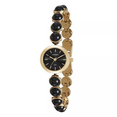 Relógio Feminino Mondaine 99259LPMVDM3 Analógico Pulseira de Aço Dourado e Preto