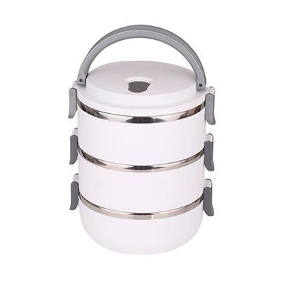 Marmita Tripla Ricaelle MRBR-003 2,1 Litros Inox e Plástico Branco