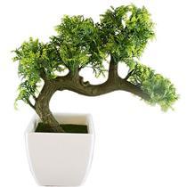 Vaso com Planta Artificial para Ornamentação Latcor BX-46002/Y12-01 Verde e Branco