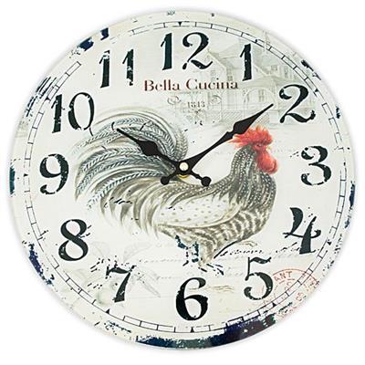 14af50e6b9a Relógio de Parede Redondo Latcor LA3-1657 Galo com Maquinismo de Pequeno  Volume Cinza com Ilustração