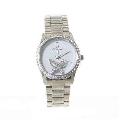 Relógio Feminino Champion CH25892D Analógico Pulseira de Aço com Kit