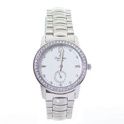 Relógio Feminino Champion CH38459D Analógico Pulseira de Aço com Kit