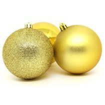 Bolas de Natal com 12 Peças Santini 048-956185SD Dourada