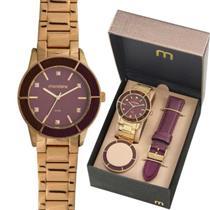 Relógio Feminino Mondaine 99265LPMVDE1 Analógico Pulseira de Aço Dourado