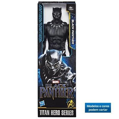 Boneco Vingadores Pantera Negra Hasbro E0869 Cores e Modelos Variados Plástico 30cm