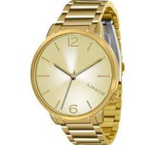 Relógio Feminino Lince LRGJ043L C2KX Analógico Pulseira de Aço Dourado
