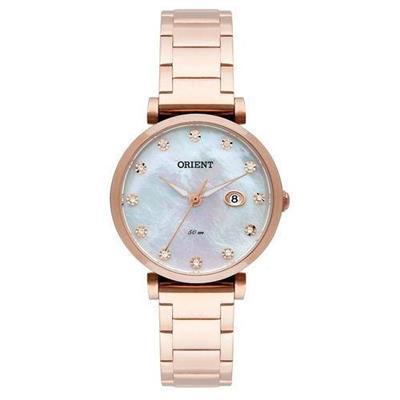 Relógio Feminino Orient FRSS1030 B1RX Analógico Pulseira de Aço Rosé
