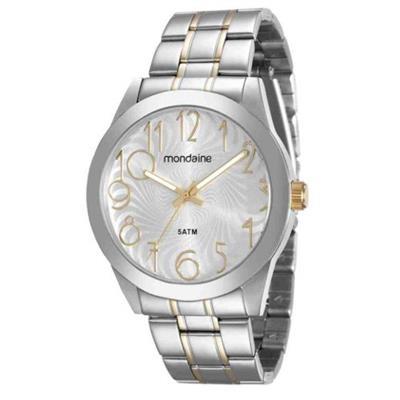 Relógio Feminino Mondaine 78703LPMVBA3 Analógico Pulseira de Aço Prata