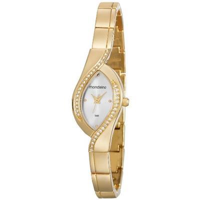 Relógio Feminino Mondaine 53565LPMVDE1 Analógico Pulseira de Aço Dourado