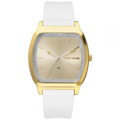 Relógio Feminino Mormaii MO2036EY8A Analógico Pulseira de Silicone Branco
