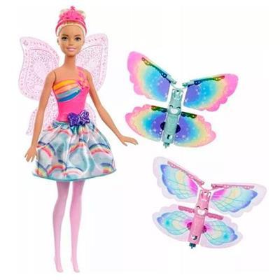 Boneca Barbie Fada Asas Voadoras Mattel FRB08