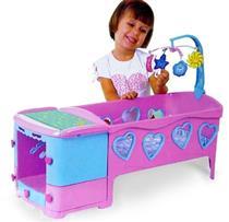 Brinquedo Berço Doce Sonho Magic Toys 8100 Plástico Rosa e Azul