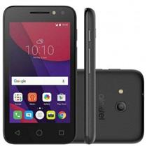 SMARTPHONE ALCATEL PIXI4 8GB 2 CHIPS TELA 4,0 CAMERA 8MP/5MP ANDROID 8,0 MARSHMALLOW PRETO