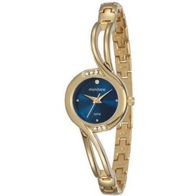 Relógio Feminino Mondaine 53553LPMVDE1 Analógico Pulseira de Aço Dourado