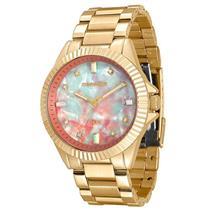 Relógio Feminino Mondaine 76642LPMVDE1 Analógico Pulseira de Aço Dourado