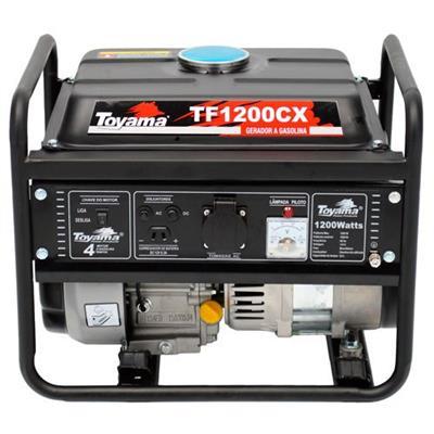 Gerador a Gasolina Toyama TF1200CXW1 9h de Autonomia 1,2KVA 4 Tempos 110V