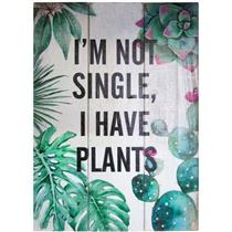 QUADRO URBAN RUSTIC WOOD PLANTS VERDE 25 X 3,5 X 35 CM