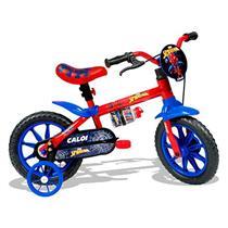 Bicicleta Spider Man Caloi T9R12V1 com Rodinhas Aro 12 Vermelha