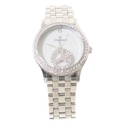 Relógio Feminino Champion com Kit CH25785D Analógico Pulseia de Aço Prateado