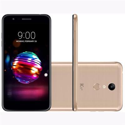 SMARTPHONE LIVRE LG K11+ LMX410BCW 4G 2CH, TELA 5.3, CÂMERA TRASEIRA 13MP + 5MP FRONTAL, ANDROID 7.1, DOURADO