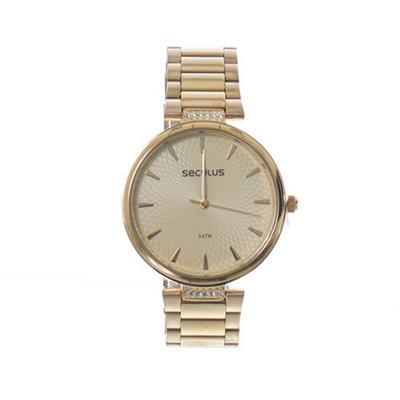 Relógio Feminino Seculus 77027LPSVDS1 Analógico Pulseira de Aço Dourado