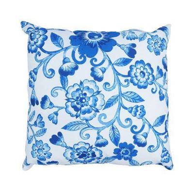 CAPA ALMOFADA URBAN BLUE FLOWERS 45X45CM